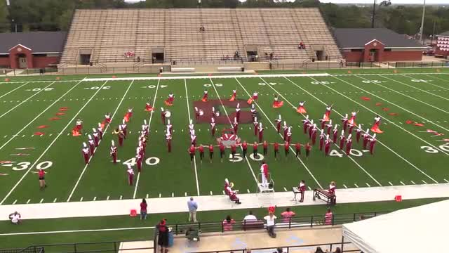 Handley High Band at 2015 Phenix Invitational MBF in Phenix City, Alabama WIDE ANGLE ONLY