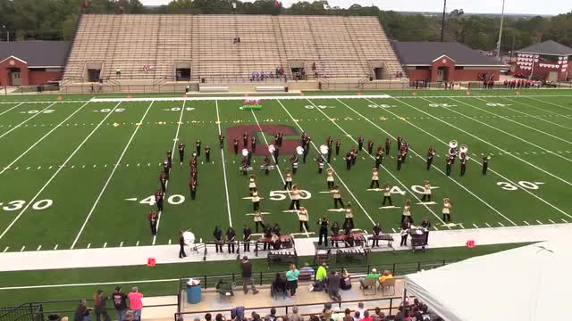 Russell County High Band at 2015 Phenix Invitational MBF in Phenix City, Alabama WIDE ANGLE ONLY