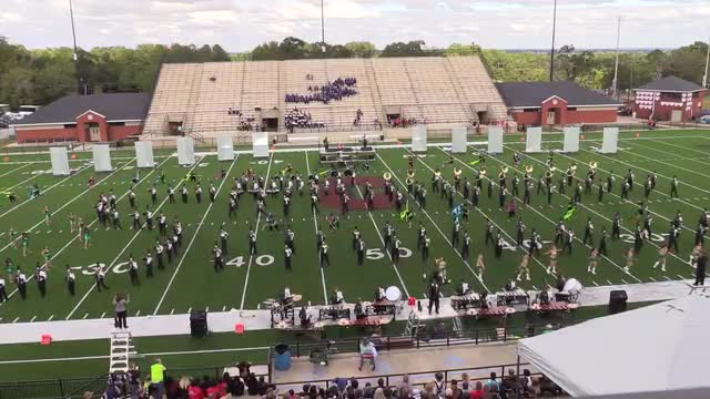 UAB Marching Blazers Band at 2015 Phenix Invitational MBF in Phenix City, Alabama WIDE ANGLE ONLY