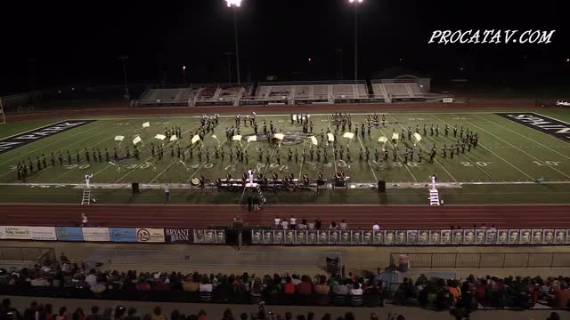 Hoover High Band at 2015 Sparks in the Park MBF in Spain Park, Alabama  WIDE ANGLE ONLY