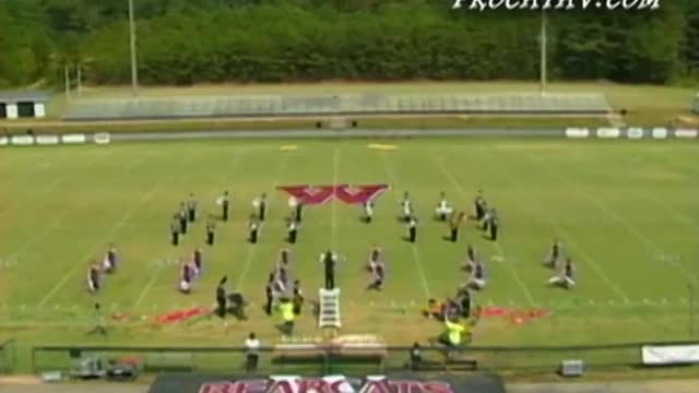 Geraldine High Band at 2010 Dixie Jubilee Marching Festival in Weaver, AL