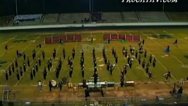 McIntosh High Band at 2010 Old South Marching Festival in Newnan, GA
