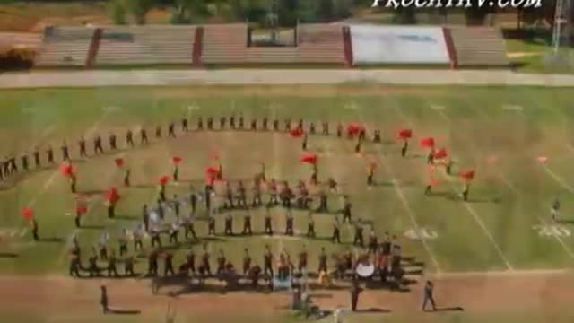 Robertsdale High Band at 2007 Gulf Coast Showcase of Champions in Cantonment, FL