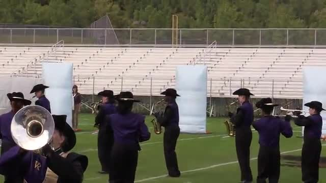 Villa Rica High Band at 2013 Hoover Invitational MBF in Hoover, Alabama