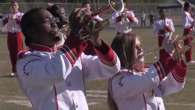 Hawkinsville High Band at 2013 Heart of Georgia MBF in Warner Robins, Georgia