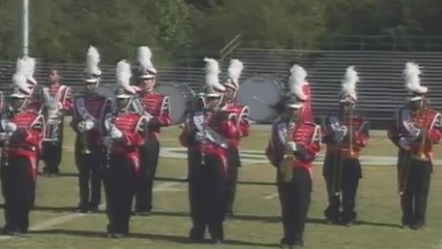 Pickens County High Band at 2012 West Alabama Marching Band Festival in Gordo Alabama