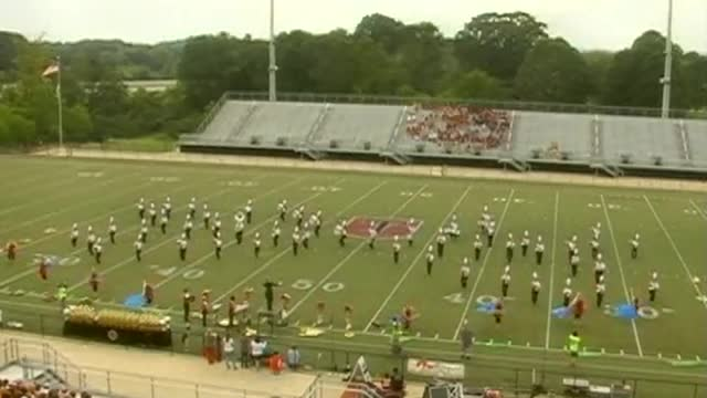 Vinemont High Band at 2012 Mid South MBF in Gadsden, Alabama