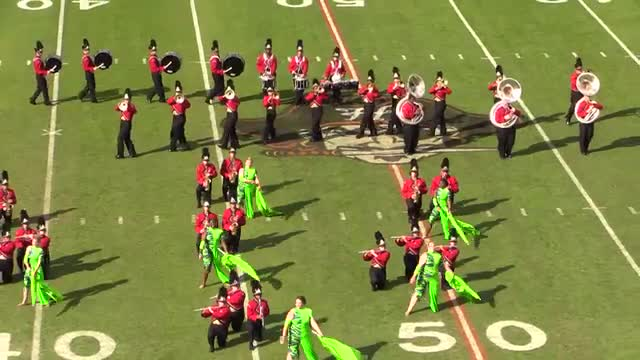 Lafayette High Band at 2013 Hoover Invitational MBF in Hoover, Alabama