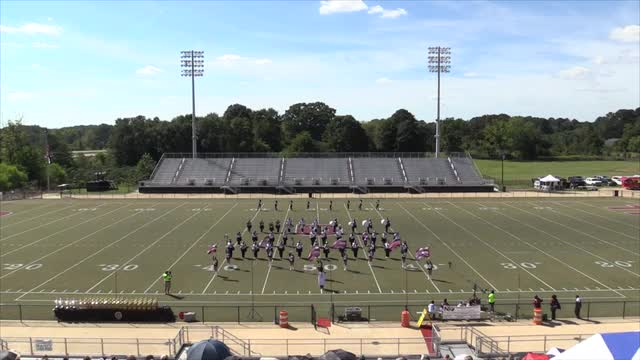 Anniston High Band - Wide Angle View -  at 2013 Mid South MBF in Gadsden, Alabama