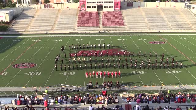 Weaver High Band at 2013 JSU Contest of Champions MBF in Jacksonville, Alabama WIDE ANGLE ONLY