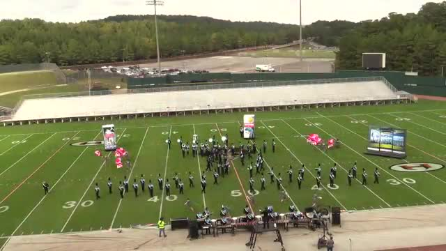 Centennial High Band at 2013 Hoover Invitational MBF in Hoover, Alabama