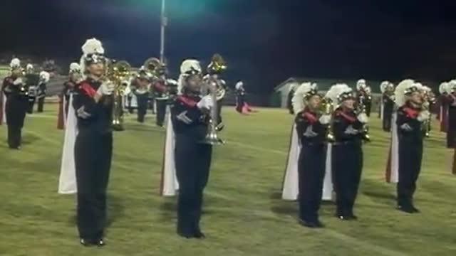 Hazel Green High Band at 2012 West Alabama MBF in Gordo, Alabama