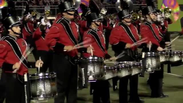 Albertville High Band at 2013 Mid South MBF in Gadsden, Alabama