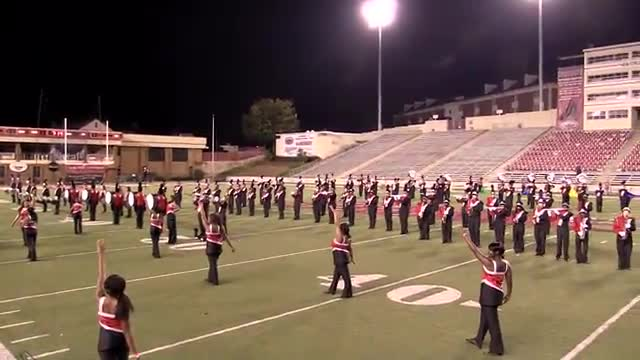 Baldwin High Band at 2013 JSU Contest of Champions MBF in Jacksonville, Alabama