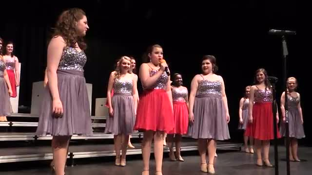 West Jones High Choir- Revolution Performance at 2014 South Central Classic in Homewood, AL