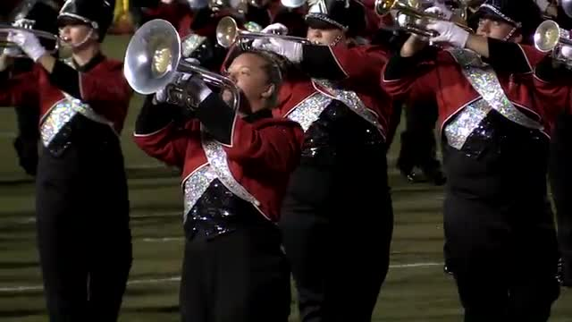 Jacksonville State University Marching Southerners Band at 2013 Mid South MBF in Gadsden, Alabama