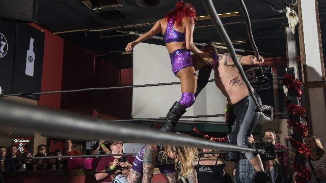 FEST Wrestling Love Is A Battlefield Aaron Epic & Martin Stone vs. Kawaii Killers (Lindsay Snow and Aria Blake) (Round 1)