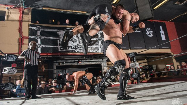 FEST Wrestling Love Is A Battlefield Aaron Epic & Martin Stone vs. TWINS (Brian Cage & Sami Callihan) (Round 2)