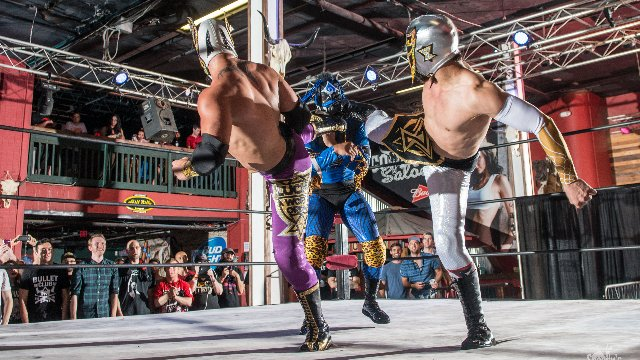 FEST Wrestling's Debut Show Palehorse Lucha Triple Threat Match Balam vs. Serpentico vs. Oraculo