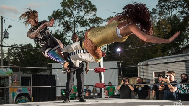 FEST Wrestling Pickle In The Tree Santana Garrett & Raquel vs. Kawaii Killers (Aria Blake & Lindsay Snow)