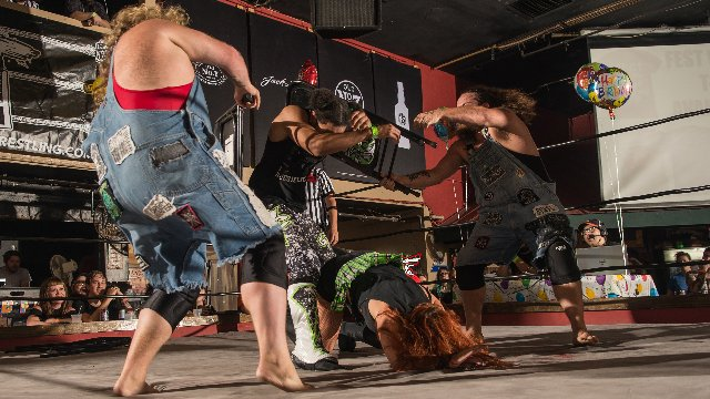 [FULL MATCH] POP CULTURE (Veda Scott & Jason Cade) vs. The Hooligans One Year Anniversary
